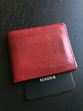 NIXON Cardinal Red Leather BI-FOLD