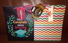 Congrats Grad Gift Bags Set of 2