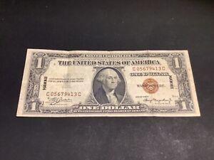 RARE 1935 A series $1 Dollar Hawaii Silver Certificate Brown Seal - L16.D