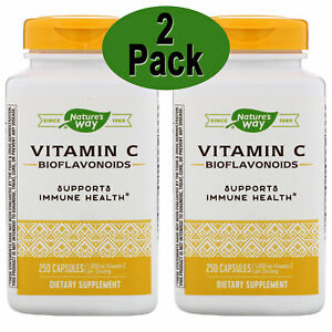 Vitamin C with Bioflavonoids, 1000 mg, 250 Caps 2 Pack 500 caps total. Exp 02/23