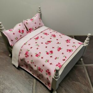 Handmade-1/12 Scale Dolls House Bedding Set  To Fit Double Bed