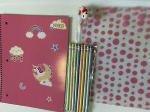 Kawaii Notebook Set / Pastel Pencils / Pencil Pouch With Cute Gumdrop Charm