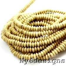 "Natural Wood Rondelle 2mm Big Hole Bead 15""(WO73)a 10x4mm Bicone FREE SHIPPING"