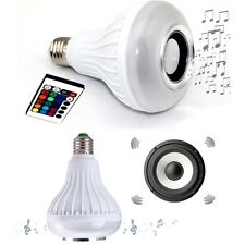 3W LED Lamp Color E27 Light Bulb Bluetooth Wireless Music Speaker for Smartphone