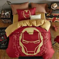 Original Disney Marvel Cartoon Cotton Doona/Quilt/Duvet Covers Set Pillowcases