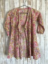 ANOKHI KOKI Girls Size 6-7 Yrs Multi Color Wrap Top Dress * RARE!