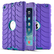 Hybrid Heavy Duty Shockproof Rubber Case Cover Stand For iPad 234 Air 1 mini 123