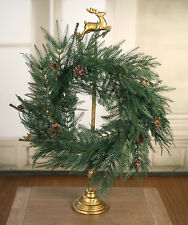 Christmas Door Wreath Garland Decor Fern Pine Cones Christmas Decoration 60cm