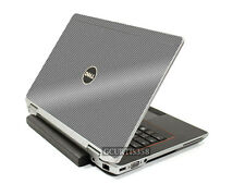 SILVER CARBON FIBER Vinyl Lid Cover Decal fits Dell Latitude E6330 Laptop