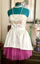 Betsey Johnson PROM PARTY Dress PEGGY SUE Sequin Cocktail Tiered TULLE Cupcake 6