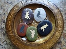 *OWL* Carved Worry Stone (1) Gemstone Totem Wiccan Pagan Familiar Metaphysical