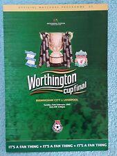 2001 - LEAGUE CUP FINAL PROGRAMME - BIRMINGHAM CITY v LIVERPOOL - V.G CONDITION