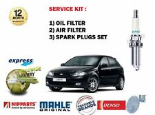 FOR CHEVROLET DAEWOO LACETTI 2004--> FILTER KIT OIL AIR (2) FILTER SET + PLUGS