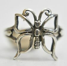 Butterfly ring sterling silver thumb band women girls  Size  8.5