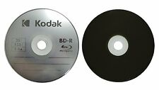 25 KODAK 6X Logo Top Blu-Ray BD-R 25GB Blank Disc Paper Sleeves