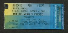 2002 Destiiny's Child Concert Ticket Stub Men Manchester Uk Survivor