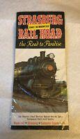 1967 Strasburg Railroad Visitors Brochure Advertising Vintage PA Pennsylvania