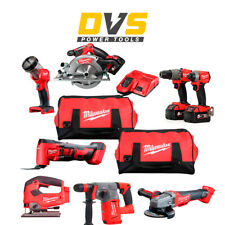 Milwaukee 18V M18 FUEL 8 Piece Kit with 3x 5.0Ah Batteries Charger and 2 Bags