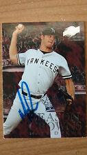 Matt Drews, Yankees, signed autographed 1996 Sky box card