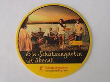 Beer Brewery Coaster ~ Schutzengarten Bier ~ St Gallen, SWITZERLAND ~ Boat Party