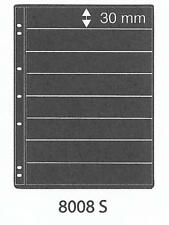 PRINZ PRO-FIL 8 STRIP BLACK STAMP ALBUM STOCK SHEETS Pack of 5 Ref No: 8008S
