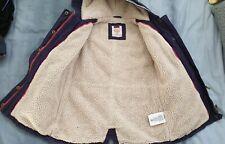 BEST COAT! Roxy size 6 Girls Fleece Lined Winter Duffle Coat, navy blue