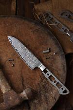 KATSURA Japanese Damascus AUS 10 woodworker Santoku knife blanks 5in no logo