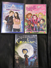DVD LOT-Coraline, Bratz, Starstruck  USED GOOD SHAPE
