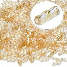 Spiral Bugle Bead 6MM Rainbow Light Gold 200 Beads