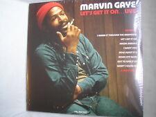 MARVIN GAYE Let's Get It On...Live UK double LP 2018 mint sealed 180g RED vinyl