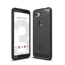 Google Pixel 3a Hülle Case Handy Cover Schutz Tasche Schutzhülle Carbon Schwarz