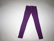 Guess Women's Brittney Skinny Jeans Size 25 x 29 Low Rise Purple Stretch Denim