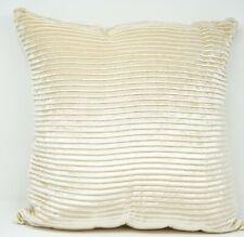 "Lacourte Tiffany 20"" Striped Solid Reversible Decorative Pillow - Champagne"