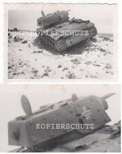 Foto originale carro armato preda/preda-carri armati kw1 con croce di travi 2.wk