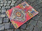 Handmade vintage rug, Turkish small rug, Wool rug, Carpet   1,4 x 1,8 ft