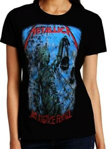 METALLICA AND JUSTICE FOR ALL PUNK ROCK T SHIRT WOMEN'S SIZES