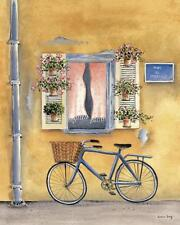 French Bicycle I by Katharine Gracey Window Flowers Canvas Giclee Print 22x28