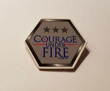RARE 1996 COURAGE UNDER FIRE MOVIE PROMO BUTTON - DENZEL WASHINGTON MEG RYAN PIN