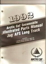1992 ARCTIC CAT JAG AFS LONG TRACK PARTS  MANUAL