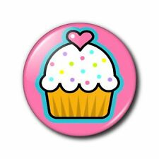 25mm Button/Pin Badge - Cute/Kitsch Cupcake