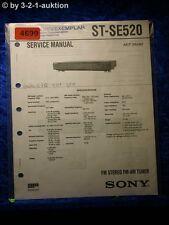 Sony Service Manual ST SE520 FM/AM Tuner  (#4699)