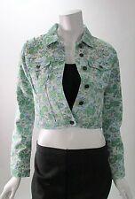 Buffalo David Bitton Floral Printed Denim Jacket W/ Studs NWT Sz XS Vintage Insp