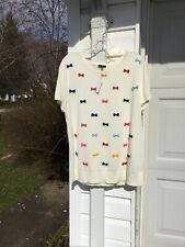 NWT Talbots Fun Cream With Multicolored Bows Short Sleeve Sweater  3X 22W 24W