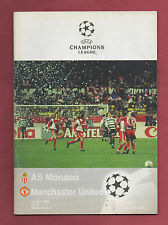 Orig.PRG   Champions League  97/98  AS MONACO - MANCHESTER UNITED  1/4 FINALE !!
