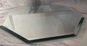 "Beveled Vanity Dresser Table Collectible 12"" Glass Mirror Perfume Makeup Display"