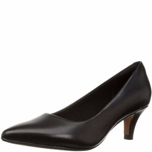 Clarks Collection Women's Linvale Jerica Pumps Leather Black 7.5M MSRP 85 New