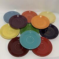 Fiesta Saucer Lot 11 different Colors multicolor fiestaware