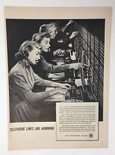 Original Print Ad 1950 BELL TELEPHONE SYSTEM Phone Lines are Humming