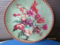 """Vintage Versaille Collection Campanule 8"""" plate Baum Brothers"""