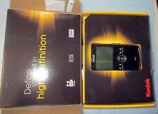 Kodak Zi8 Video Camera Pocket, Black, 2 batteries, 1 charging cable, 2 chargers